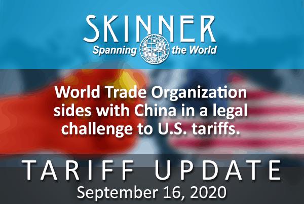 "World Trade Organization (WTO) ""Trump's China Tariffs Violate Trade Rules"""